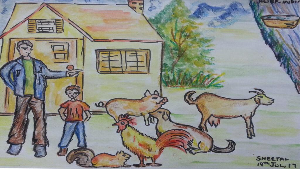 animals and family scene4