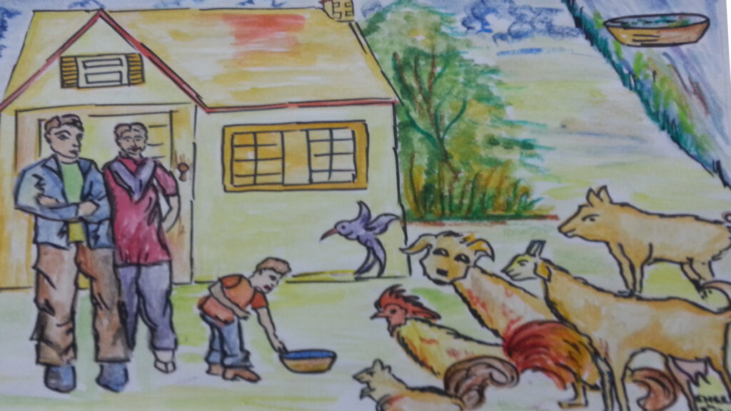 water bowl for animals scene 6