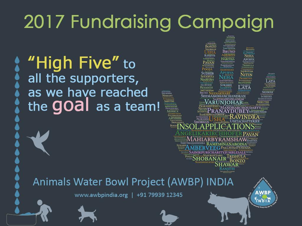 AWBP INDIA fundraising campaign 2017