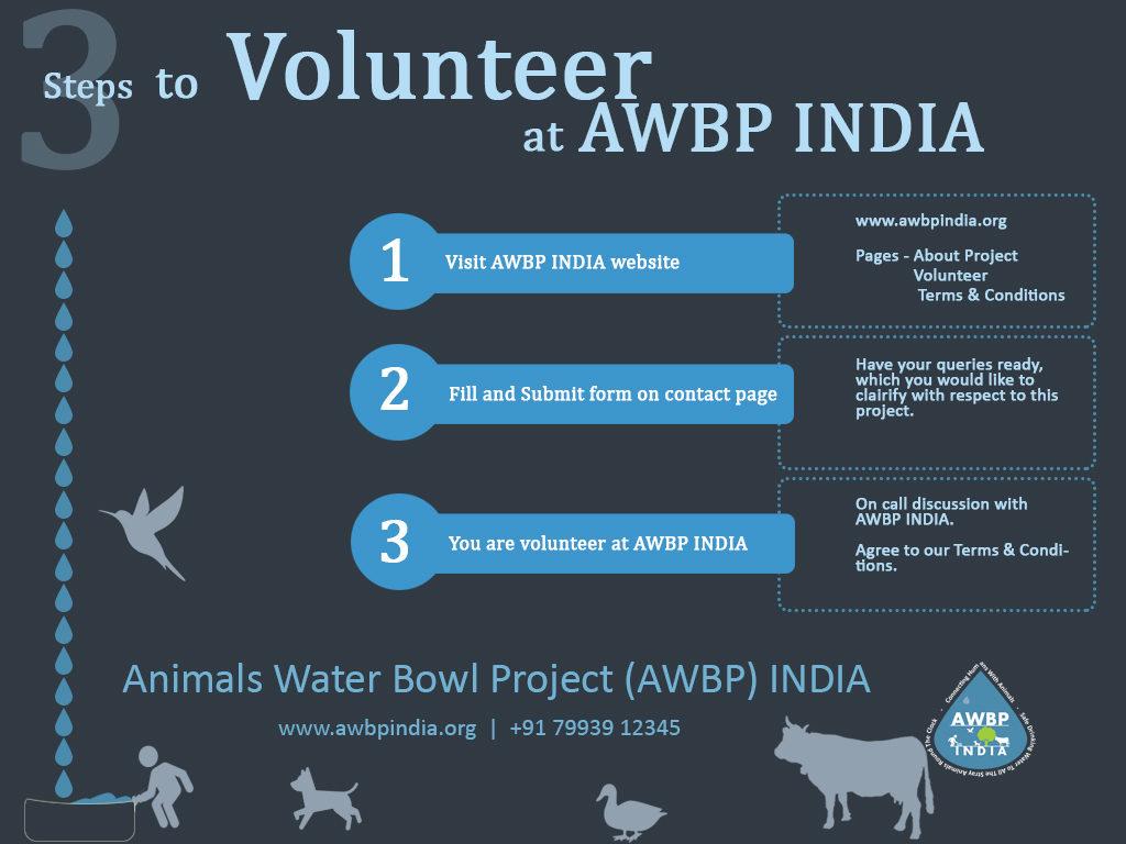 3 steps to volunteer at awbp trust
