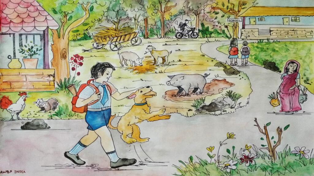 street animal caretaker scene1