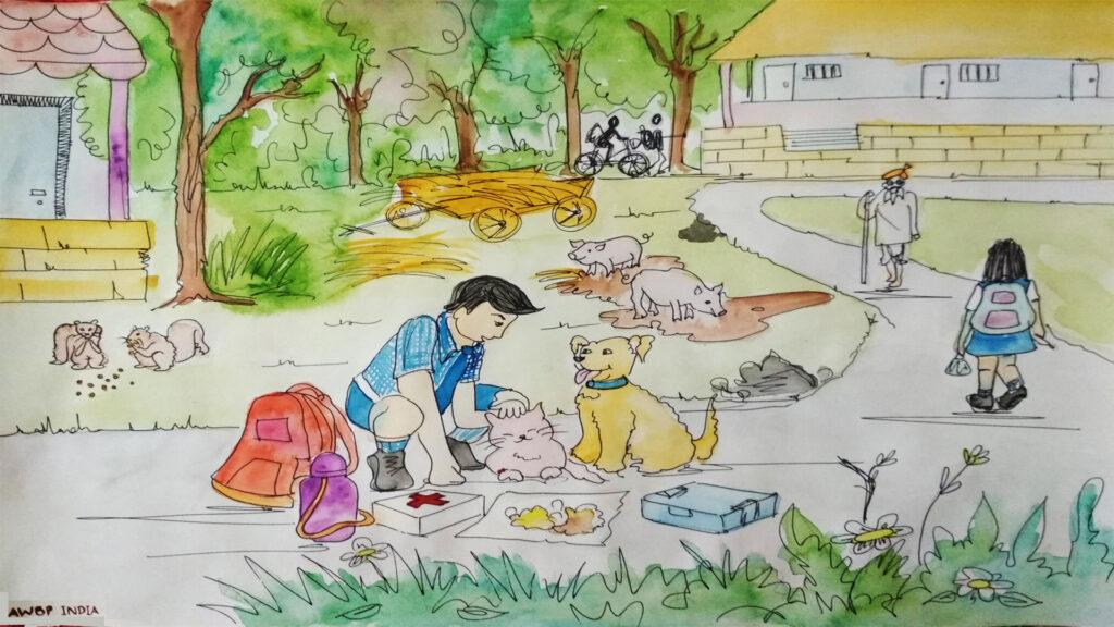 street animal caretaker scene5
