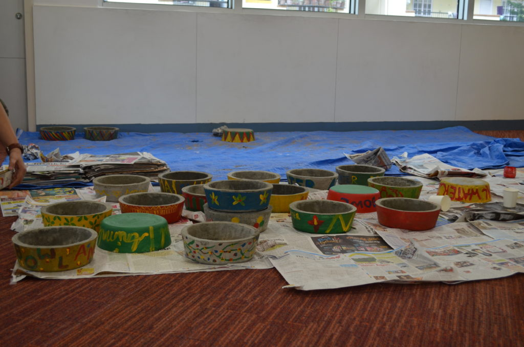 google employees painted water bowls