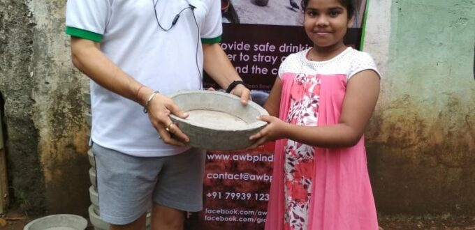 awbp trust water bowl distribution in maharashtra
