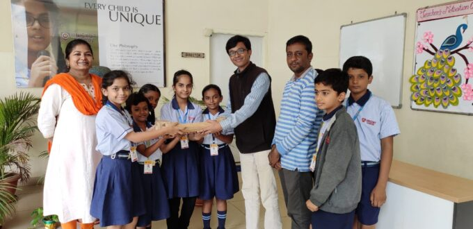 awbp trust distributed bamboo bird feeder to unicent students